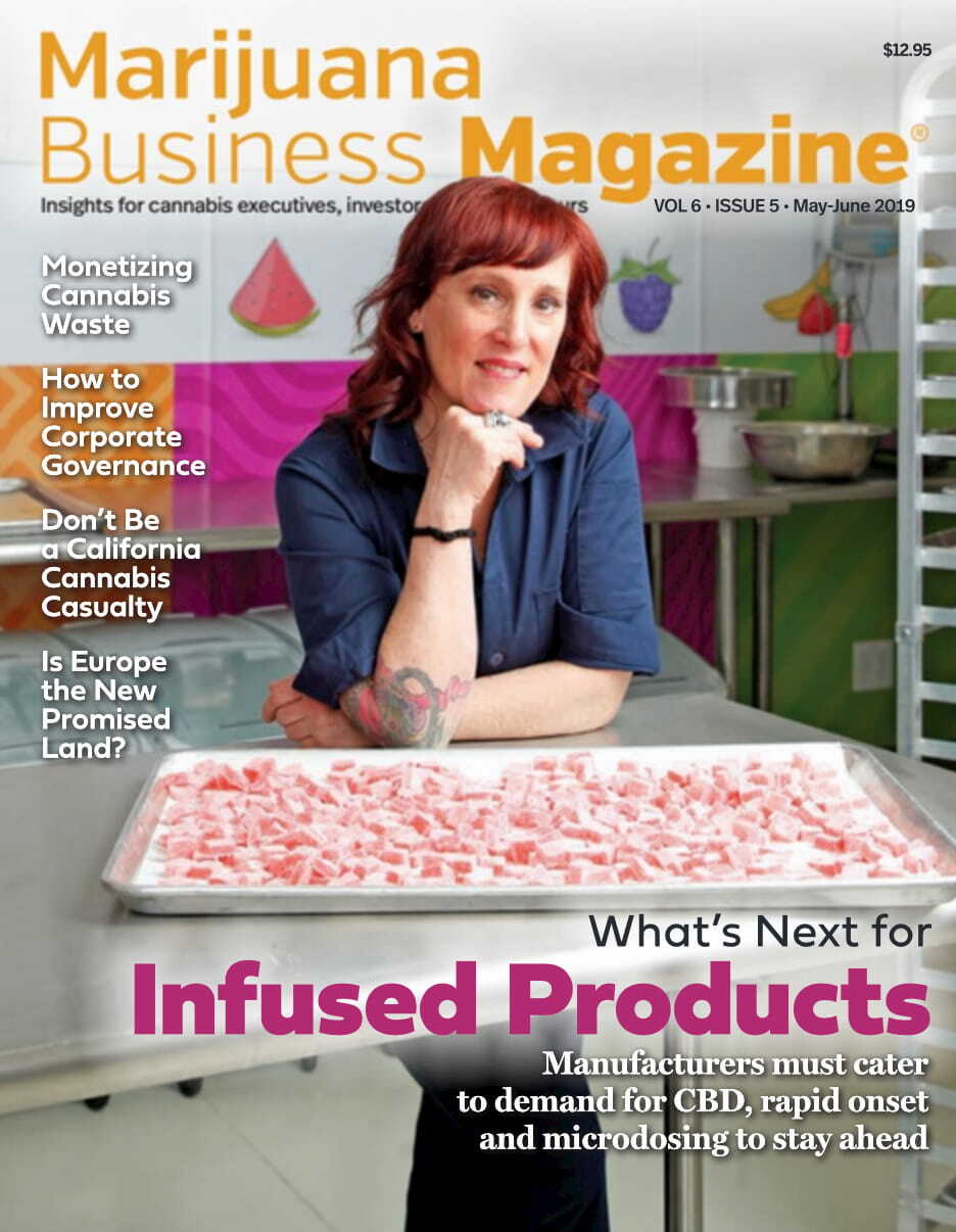 Marijuana Business Magazine cover featuring Kalvara
